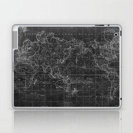 Black and White World Map (1799) Inverse Laptop & iPad Skin
