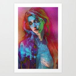 Galaxy Grunge Art Print