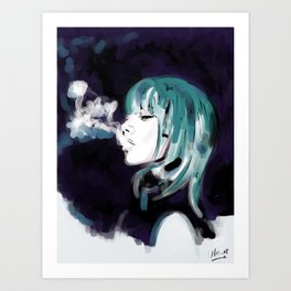 Smoking Colors. Art Print