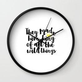 Gift For Kids Printable Nursery Printable Art Crown Prints Nursery Wall Decal Nursery Quotes Kids Wall Clock