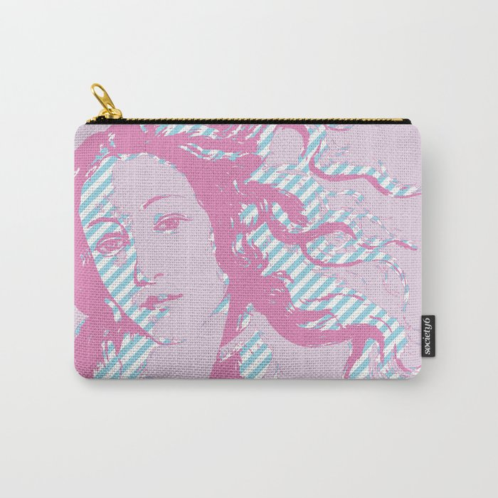 Rebirth of Venus - Pink & Cyan - Trans Pride! Carry-All Pouch