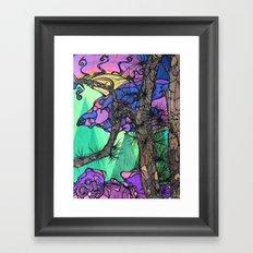 Sunset Rock Framed Art Print