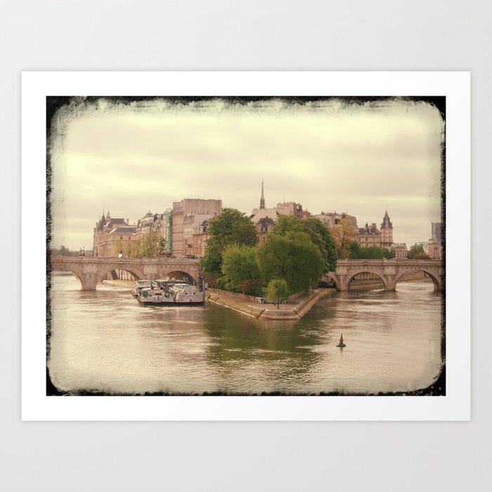 Ille de la Cite, Paris  Art Print