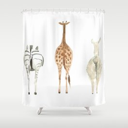 Cute animal butts Shower Curtain
