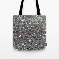 Sparkly colourful silver mosaic mandala Tote Bag