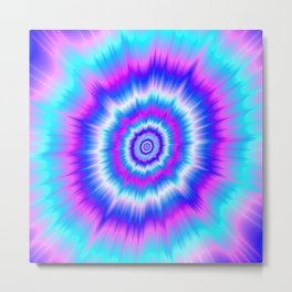 Boom in Blue and Pink Metal Print