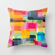 technicolour 2 Throw Pillow