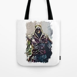 The Legend from Florence / Fan Art Abstract Portrait Tote Bag