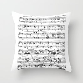 Mendelssohn Classical Sheet Music Throw Pillow