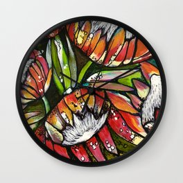 Potted Proteas Wall Clock