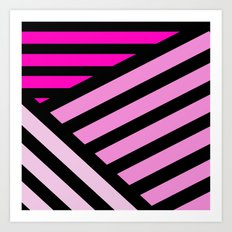 STRIPED {PINK} Art Print
