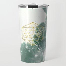 Emerald Paper Cranes Travel Mug