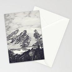Mount Rainier B&W Stationery Cards