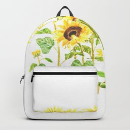 sunflowers watercolor horizontal  Backpack