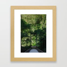 Bridge to Machupicchu Framed Art Print