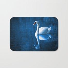 Beautiful Swan Blue Lake Bath Mat