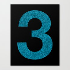 Three - Blue Canvas Print