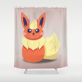 Evolution Bobbles - Flareon Shower Curtain