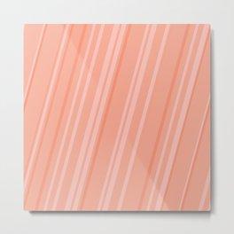 Melon Stripes Metal Print
