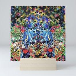 blue bunny Mini Art Print