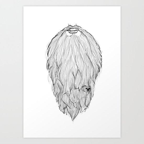 There's a BEAR in BEARd! Art Print