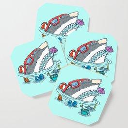 Beach Party Shark Coaster