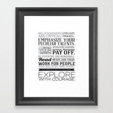 Designer Wisdom Framed Art Print