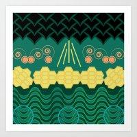 Rainforest HARMONY pattern Art Print