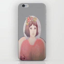 flower girl - floral iPhone Skin