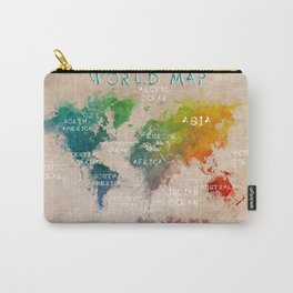 world map 14 Carry-All Pouch