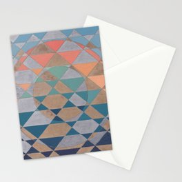 Circles and Triangles Stationery Cards