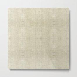 """Nude Burlap Texture"" Metal Print"