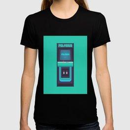 Polybius Arcade Game Machine Cabinet - Front Green T-shirt