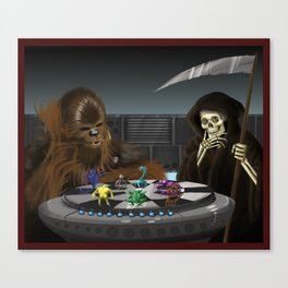 Let the Wookie Win Canvas Print