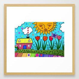 Sunshine House Framed Art Print