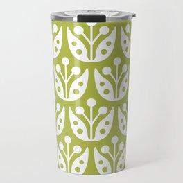 Mid Century Flower Pattern 5 Travel Mug
