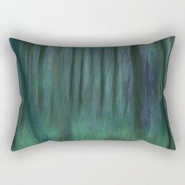 Painted Trees 2 Aqua Rectangular Pillow