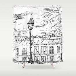 Street in Paris Shower Curtain