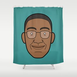 Faces of Breaking Bad: Gustavo Fring Shower Curtain