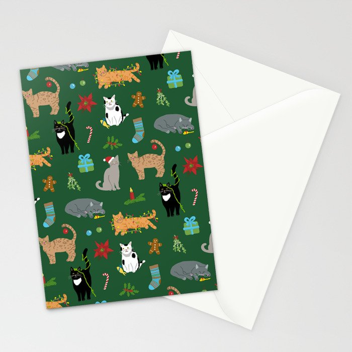 Christmas Cats Stationery Cards