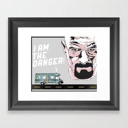 """Breaking Bad """"I Am The Danger"""" Framed Art Print"""