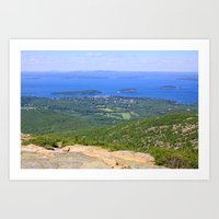 Bar Harbor from Cadillac Mountain Art Print