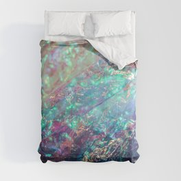 Prismatic Iridescent Cellophane VII Comforters