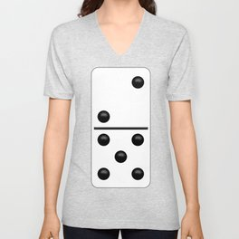 White Domino / Domino Blanco Unisex V-Neck