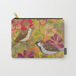 Sweet Sparrows and Briar Rose Carry-All Pouch