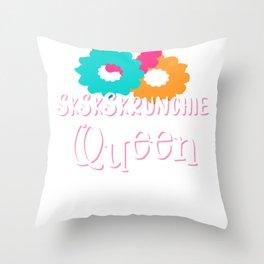 SkSkSkrunchie Queen Scrunchies VSCO Girl SkSkSk And I Oop Throw Pillow