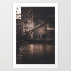 Working Dock Art Print