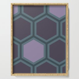HONEYCOMB | TEAL + AUBERGINE Serving Tray