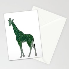 Giraffe is for Green Stationery Cards