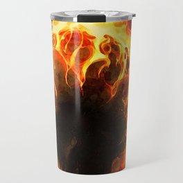 The Fire Burning Skull Travel Mug